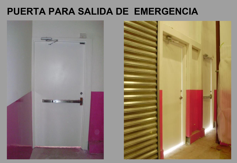 Nuestros productos for Precio de puertas salida de emergencia